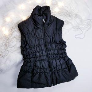 Michael Kors sz M puffer black vest 50% down fill